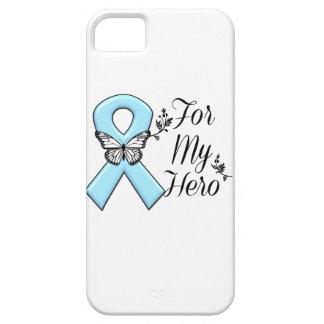 Cinta azul clara para mi héroe funda para iPhone SE/5/5s