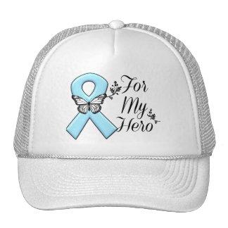 Cinta azul clara para mi héroe gorra