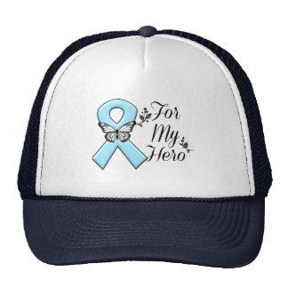 Cinta azul clara para mi héroe gorras