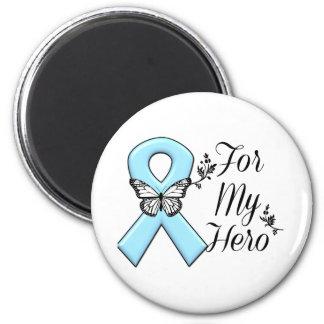 Cinta azul clara para mi héroe imán redondo 5 cm