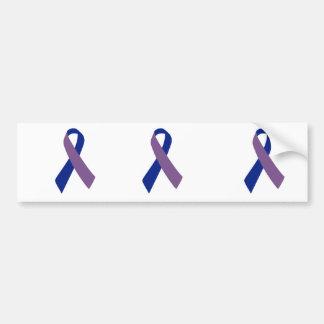 cinta azul de la conciencia de la artritis etiqueta de parachoque