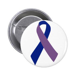 cinta azul de la conciencia de la artritis pin redondo 5 cm