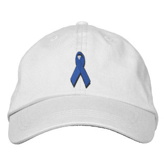 cinta azul de la conciencia gorra bordada