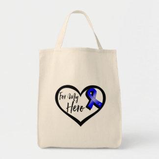 Cinta azul de la conciencia para mi héroe