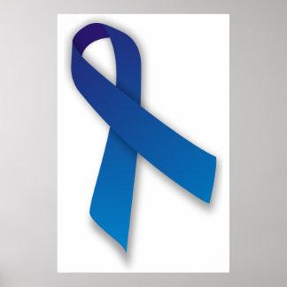Cinta azul de la conciencia y de la conmemoración posters