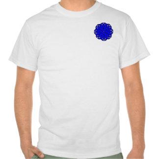 Cinta azul de la flor camiseta