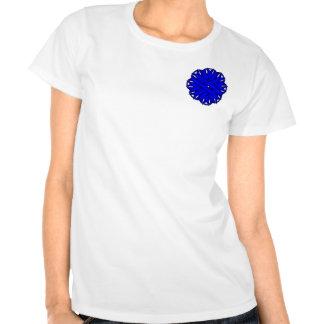 Cinta azul de la flor camisetas