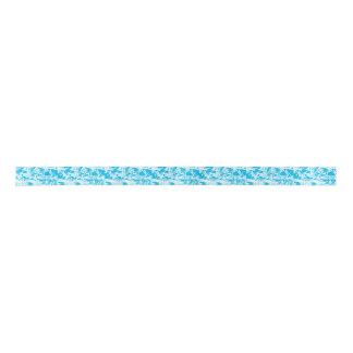 Cinta azul del modelo de los pescados de la lazo de raso