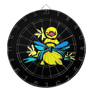 Cinta azul del polluelo amarillo alrededor de bell
