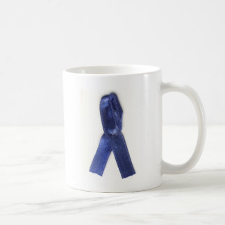 Cinta azul fibromyalgie taza básica blanca