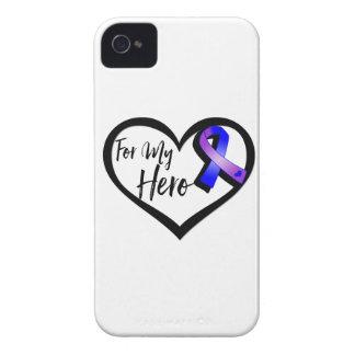 Cinta azul y púrpura de la conciencia para mi carcasa para iPhone 4 de Case-Mate