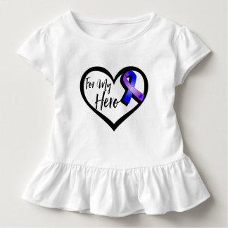 Cinta azul y púrpura de la conciencia para mi playeras
