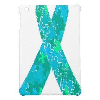 Cinta azulverde del modelo del rompecabezas del
