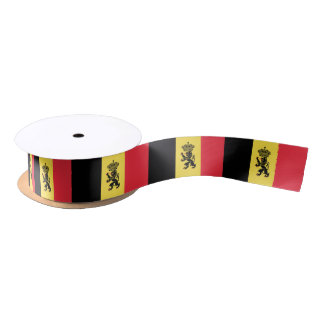 Cinta belga de la bandera lazo de raso