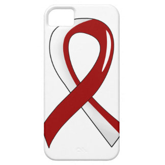 Cinta blanca 3 de Borgoña del cáncer principal del iPhone 5 Covers