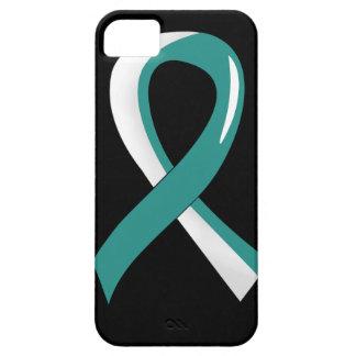 Cinta blanca 3 del trullo del cáncer de cuello del funda para iPhone SE/5/5s