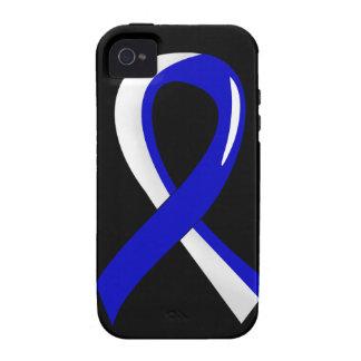 Cinta blanca azul 3 del ALS iPhone 4/4S Carcasas