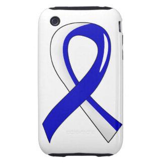 Cinta blanca azul 3 del ALS iPhone 3 Tough Carcasas