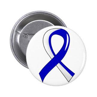 Cinta blanca azul 3 del ALS Pin Redondo De 2 Pulgadas