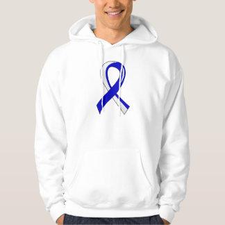 Cinta blanca azul 3 del ALS Suéter Con Capucha