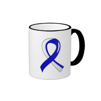 Cinta blanca azul 3 del ALS Taza De Café