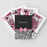 Cinta blanco y negro de moda del rosa del estampad baraja