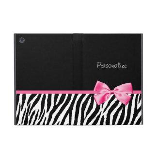 Cinta blanco y negro de moda del rosa del estampad iPad mini cárcasa