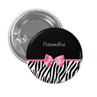 Cinta blanco y negro de moda del rosa del estampad pins