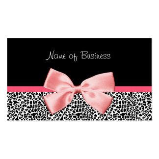 Cinta blanco y negro de moda del rosa del estampad plantillas de tarjetas personales