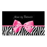 Cinta blanco y negro de moda del rosa del estampad plantillas de tarjeta de negocio