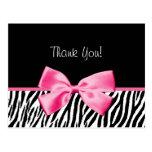Cinta blanco y negro de moda del rosa del estampad tarjeta postal