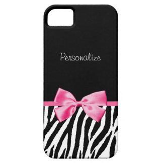 Cinta blanco y negro de moda del rosa del iPhone 5 coberturas