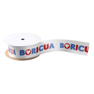 Cinta: Boricua: Puerto Rico Satin Ribbon