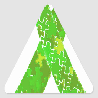 Cinta brillante del modelo del rompecabezas de la pegatina triangular