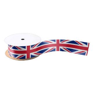Cinta británica de la bandera lazo de raso