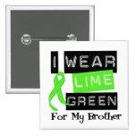 Cinta Brother de la verde lima del linfoma Pins