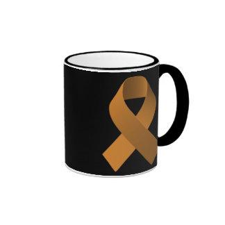 Cinta Brown de la ayuda de la conciencia Taza De Dos Colores