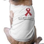 """Cinta canina de la ayuda de Megaesophagus """"ninguna Ropa Perro"""