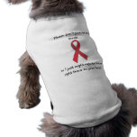 "Cinta canina ""pies "" de la ayuda de Megaesophagus Camisas De Mascota"