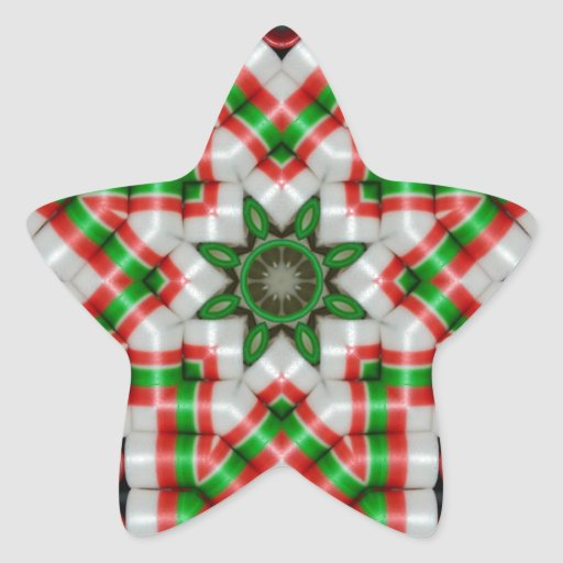 Cinta caramelo edredón estrella diciembre de 2012 pegatina en forma de estrella