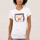 Cinta cepillada conciencia del corazón de la camisetas