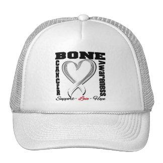 Cinta cepillada conciencia del corazón del cáncer  gorros