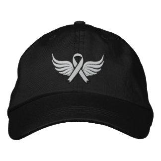 Cinta coa alas del cáncer de pulmón gorra bordada