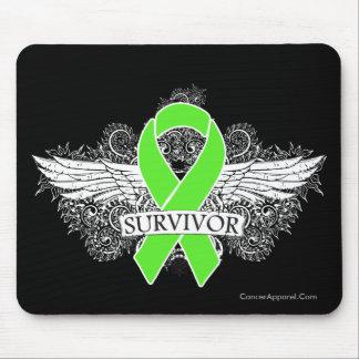 Cinta coa alas linfoma del SUPERVIVIENTE de NonHod Mousepads