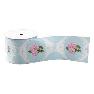 Cinta color de rosa elegante de la cabaña lazo de tela gruesa