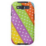 Cinta colorida de Pascua Samsung Galaxy S3 Carcasas