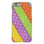 Cinta colorida de Pascua Funda De iPhone 6 Barely There