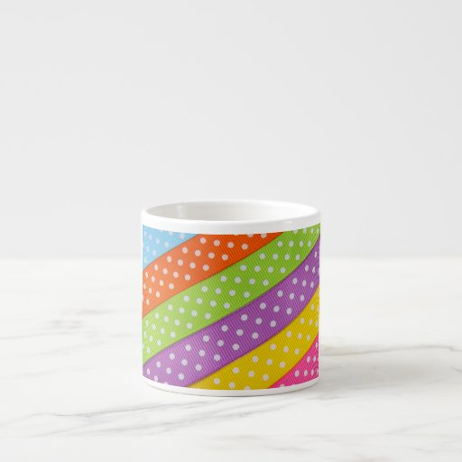 Cinta colorida de Pascua Tazitas Espresso