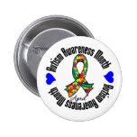 Cinta colorida - mes de la conciencia del autismo pins