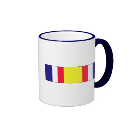 Cinta conmemorativa del servicio del combate taza a dos colores